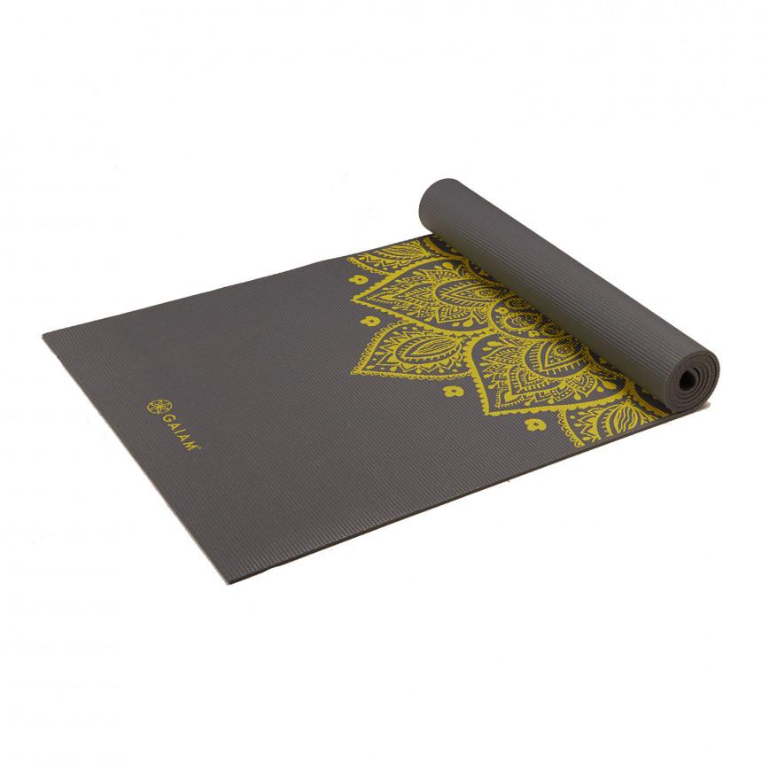 Gaiam Sundial Yoga Mat 61 X 172 X 0 5 Cm Citron
