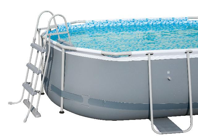 beschikbaar echt goedkoop geholpen Bestway Power Steel Levant Swimming Pool - Oval - 424 x 250 ...