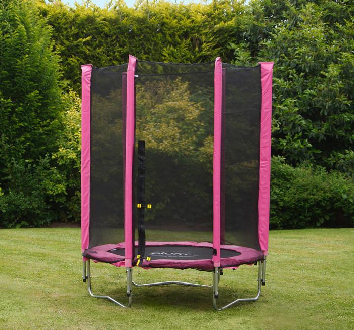 Plum Junior Trampoline And Enclosure Pink 45ft