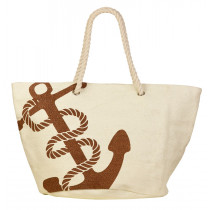 Beco Beach Bag - White / Gold