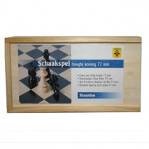 Longfield Chess Pieces Wood in Box - King 77 mm