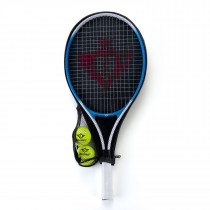 Tennisracket with Cover and 2 Balls - Blue