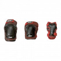 Roces Jr Ventilated 3-pack Protectors Boys - Red / Black