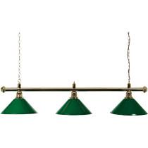 Brass Lamp 3 Shades 150 cm - Green
