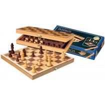 Chess Foldable Case - Inlaid - 30 cm