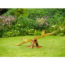 Plum Wooden seesaw