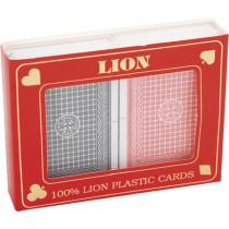 Playing Card Set Lion 100% Plastic Duobox