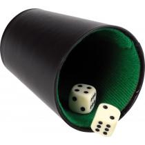 Buffalo Pokercup Leather Black - 9 cm