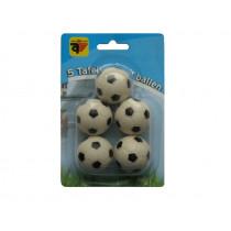 Table soccer balls Black and white 5 pcs