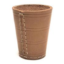 Dice Cup 10 x 8 cm Leather naturel