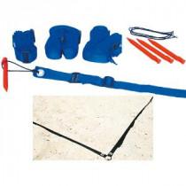 Megaform Beach Volleyball boundaries - blue webbing
