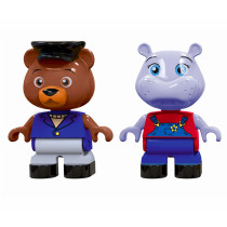 Aquaplay 234 Canal Systems - Bo the Bear and Wilma the Hippo Puppets