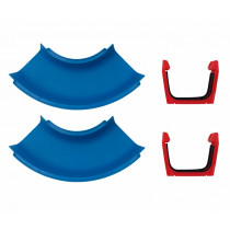 Aquaplay 102 Canal Systems - Curves, Sets Of 2