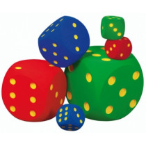 Volley Foam Dice: 50 cm, 2.900 g - Blue