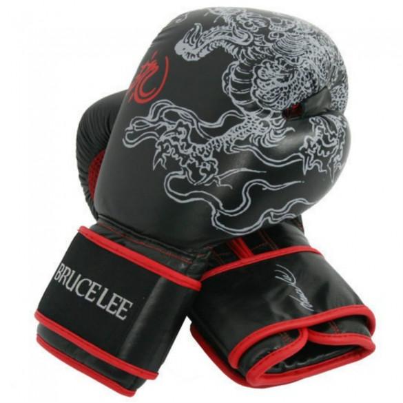 M Black Bruce Lee Boxing Gloves Dragon Training Gloves Grappling Gr