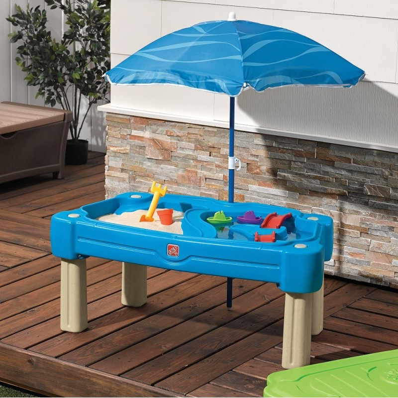 & Step2 Cascading Cove Sand and Water Table with Cover Sand \u0026 Water Toys