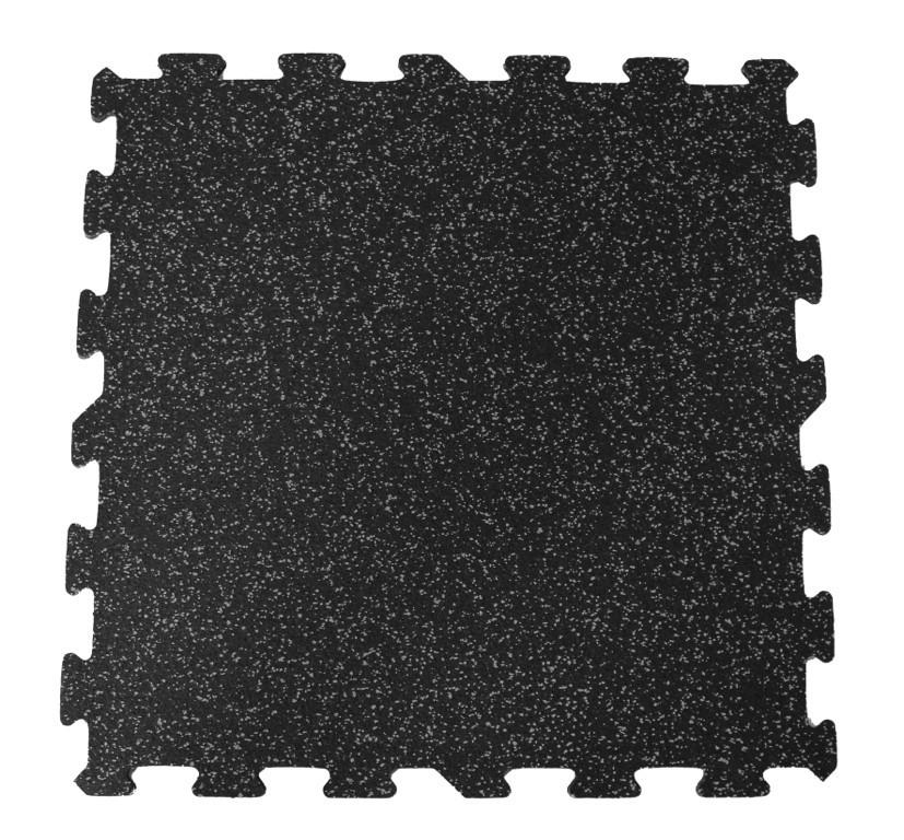 Jordan Rubber Flooring 12mm Straight Edge Black With Grey Flecks
